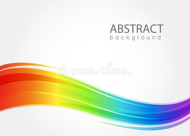 Fundo abstrato com onda do arco-íris ilustração do vetor