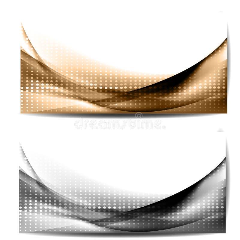Fundo abstrato com ondas e linhas ilustração royalty free