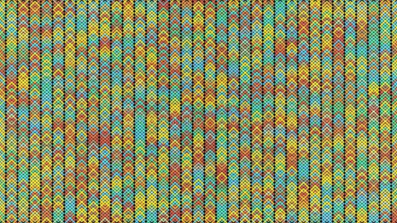 Fundo abstrato com partículas mover-se e de cintilação Animação do laço sem emenda A animação é brilhante colorida ilustração stock