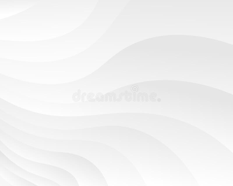 Fundo abstrato com perspectiva Textura macia branca ilustração do vetor