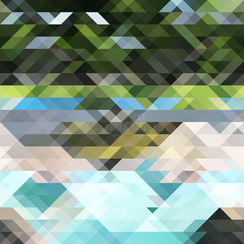 Fundo abstrato com polígono ilustração do vetor