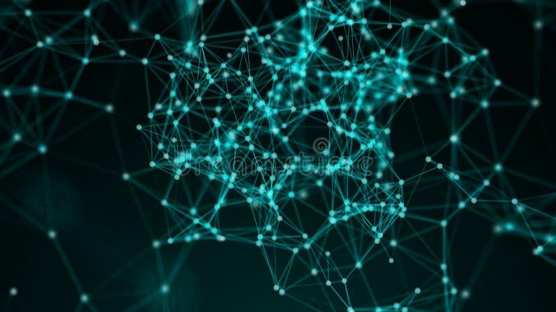 Fundo abstrato com pontos da conexão imagens de stock royalty free