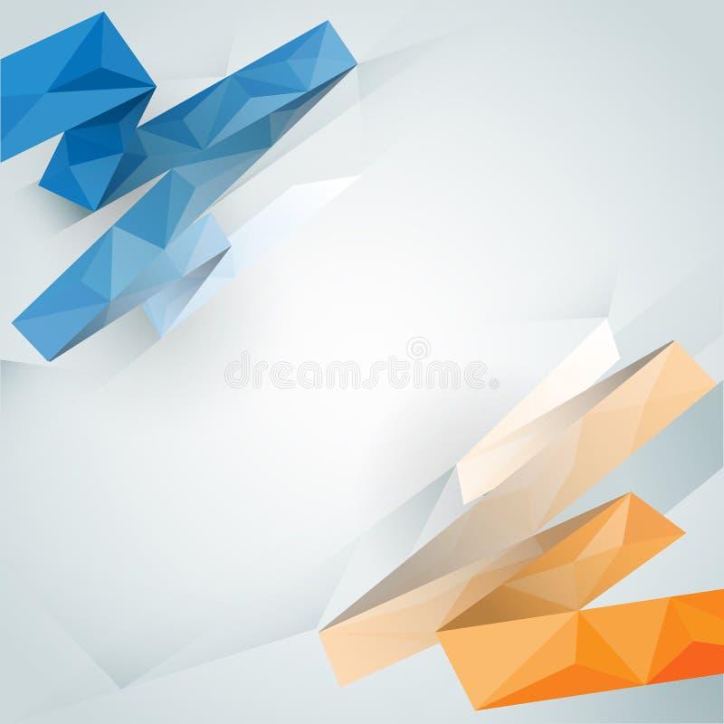 Fundo abstrato com projeto poligonal da cor clara ilustração royalty free