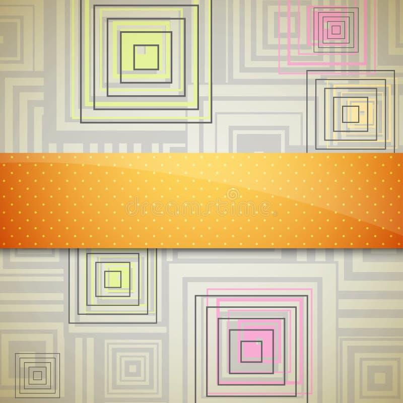 Fundo abstrato com quadrados ilustração do vetor