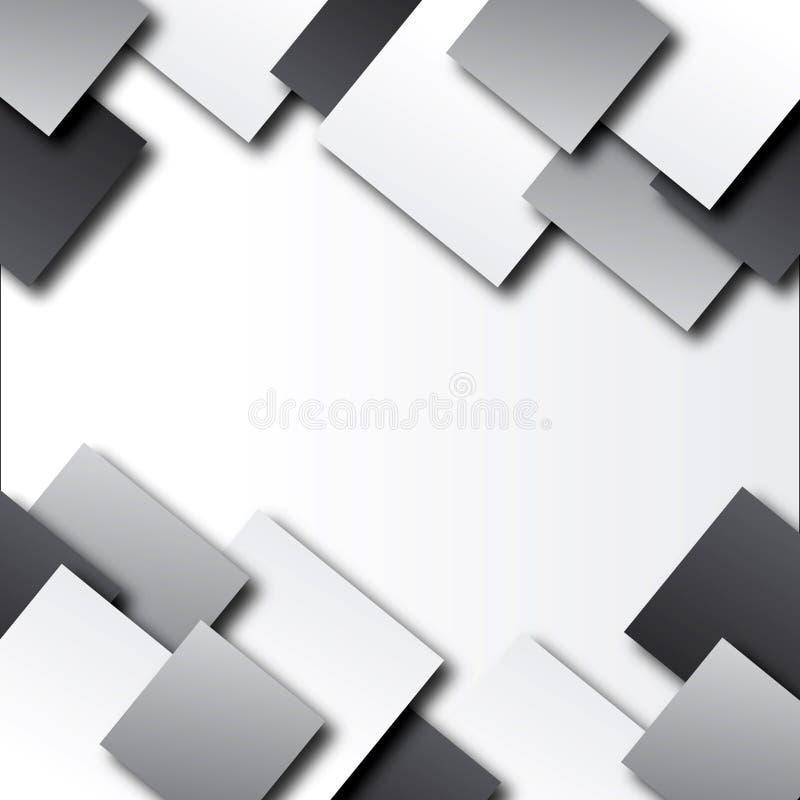 Fundo abstrato com quadrados imagem de stock