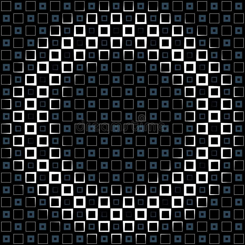 Fundo abstrato com quadrados coloridos e inclina??o ondulado da espessura ilustração royalty free