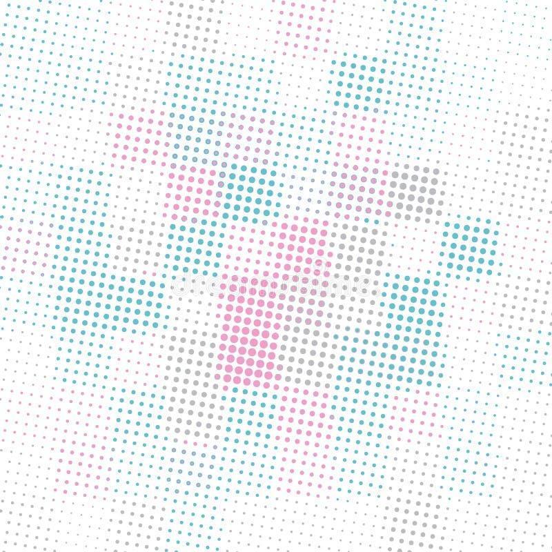 Fundo abstrato com quadrados coloridos em um fundo branco ilustração do vetor