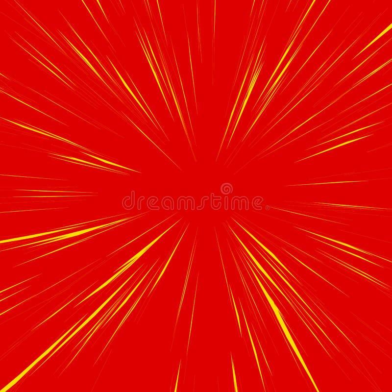 Fundo abstrato com radial, irradiando, linhas convergentes ilustração do vetor