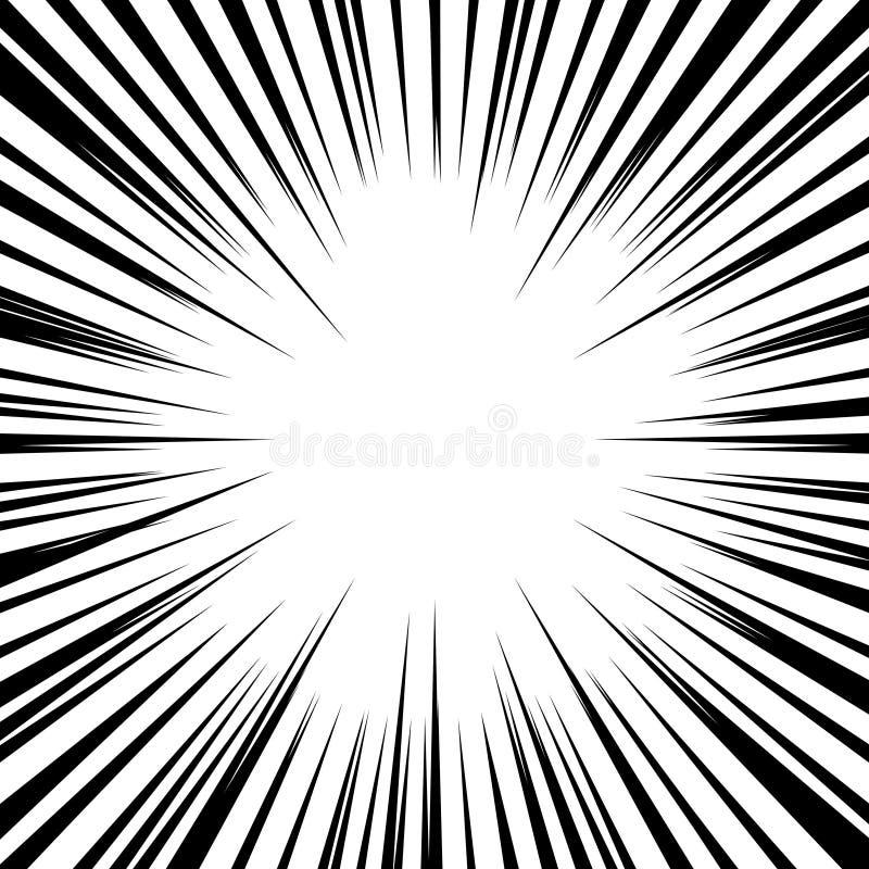 Fundo abstrato com raios retros do sol Vetor imagens de stock