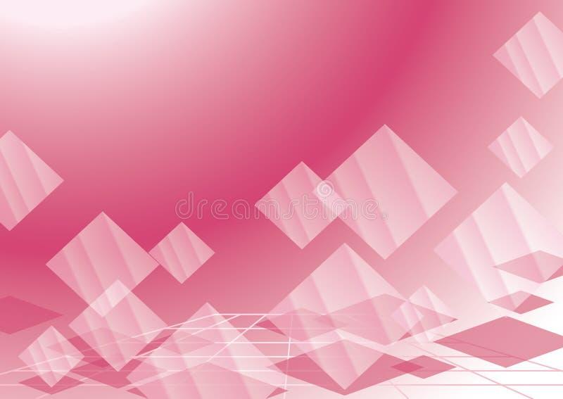 Fundo abstrato com rhombuses transparentes ilustração royalty free