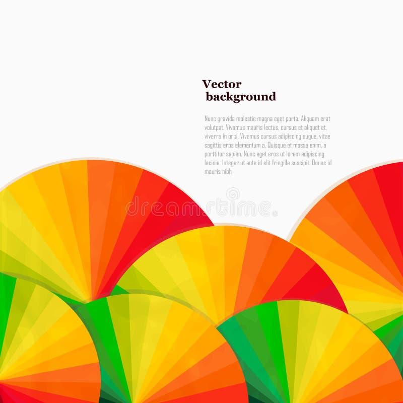 Fundo abstrato com rodas do espectro Templat brilhante do arco-íris ilustração stock