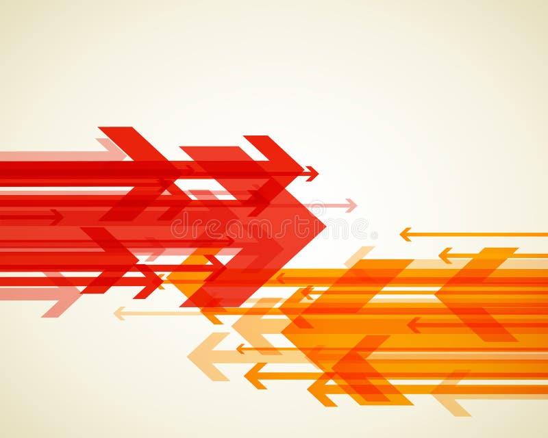 Fundo abstrato com setas coloridas ilustração stock