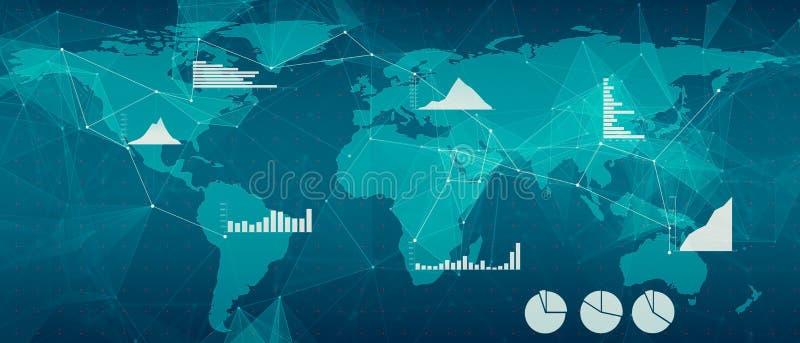 Fundo abstrato com tecnologias de rede imagem de stock