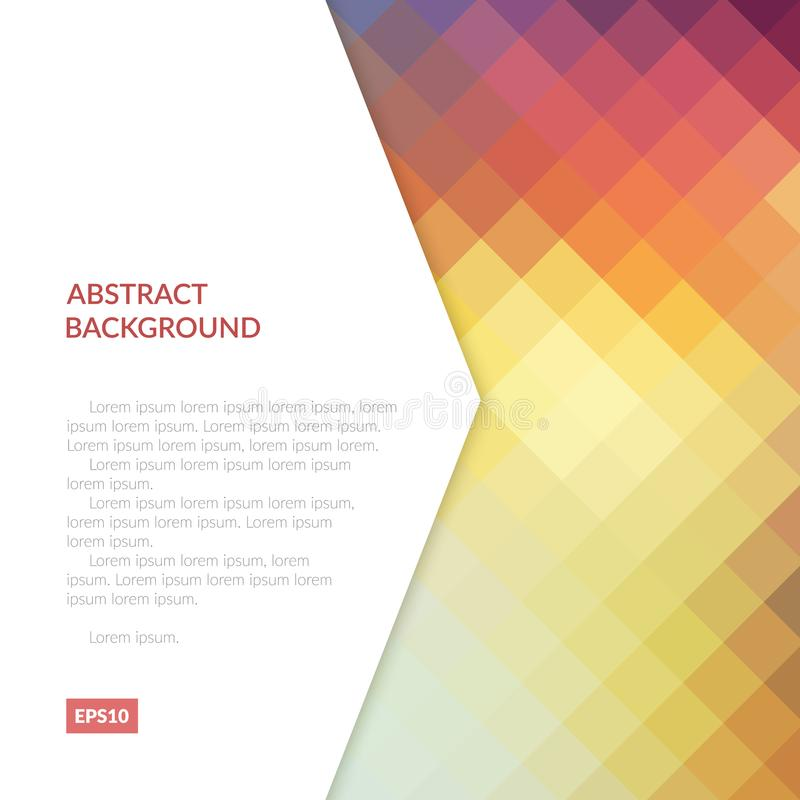 Fundo abstrato com testes padrões geométricos Sombreie a folha na superfície do objeto ilustração do vetor