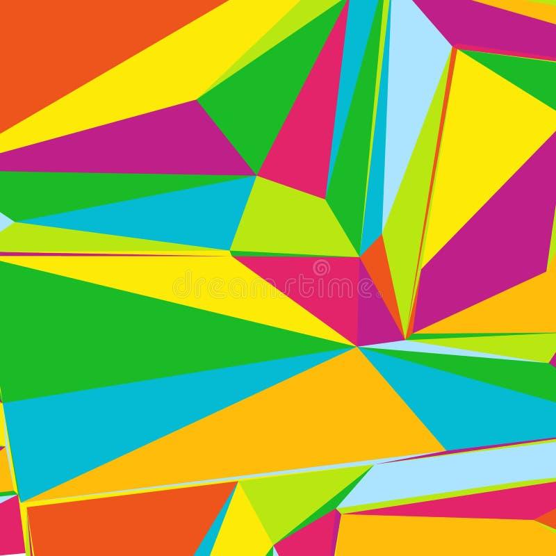 Fundo abstrato com tri?ngulos coloridos para compartimentos, brochuras ou a tela m?vel do fechamento ilustração stock