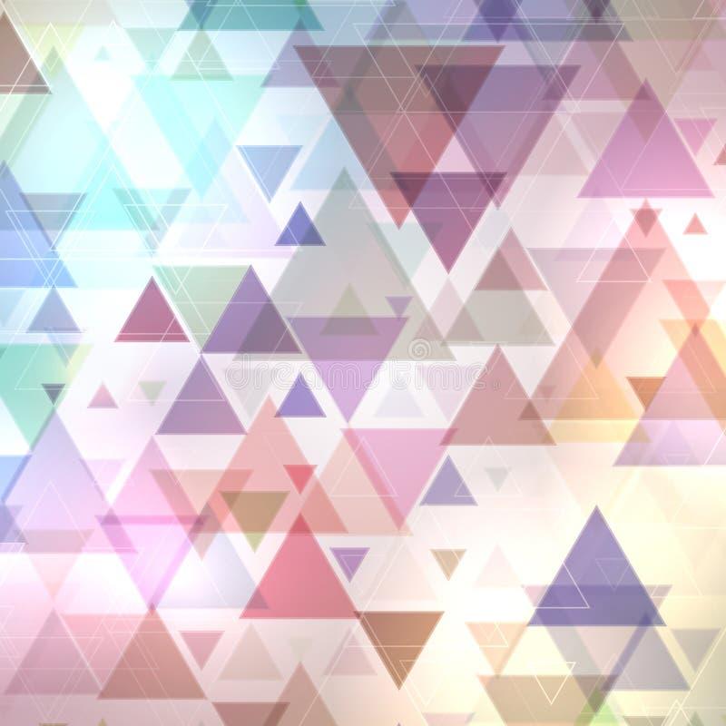 Fundo abstrato dos triângulos ilustração do vetor