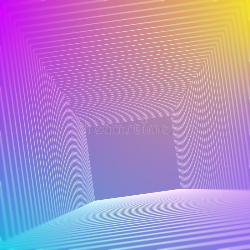 Fundo abstrato com uma onda dinâmica colorida ilustração royalty free