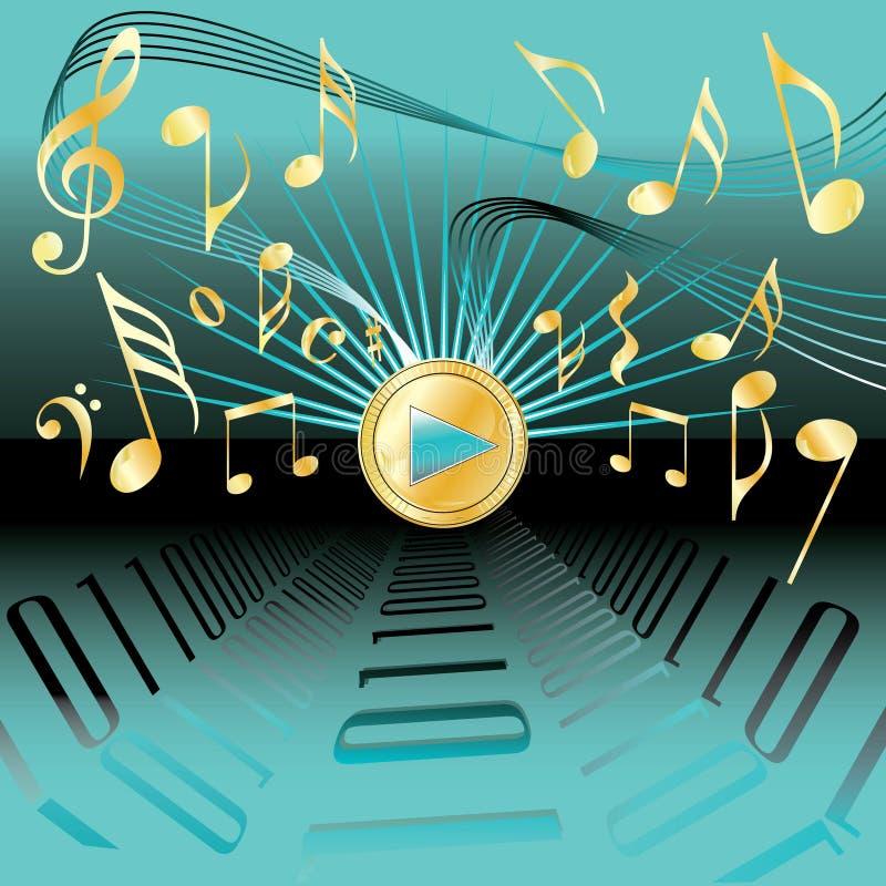 Fundo abstrato conceptivo da música ilustração royalty free