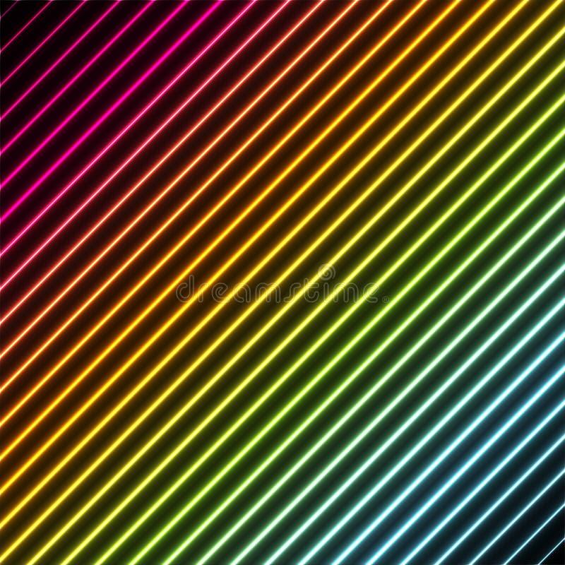 Fundo contemporâneo com cores do néon do arco-íris ilustração royalty free