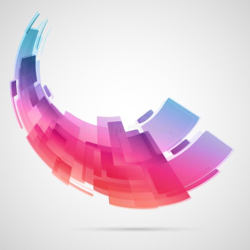 Fundo abstrato criativo da olá!-tecnologia ilustração stock