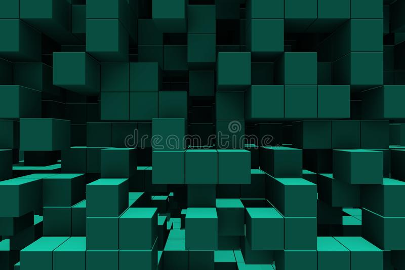 Fundo abstrato - cubos ilustração stock