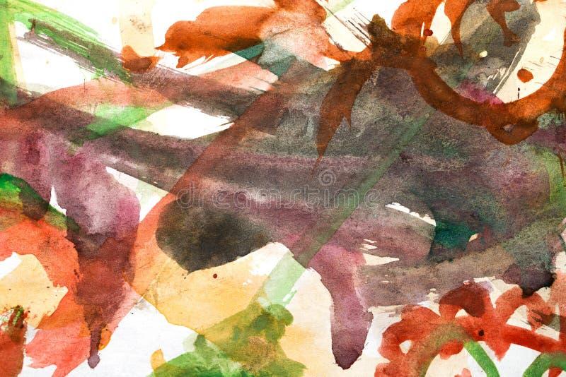 Fundo abstrato da aquarela ilustração stock
