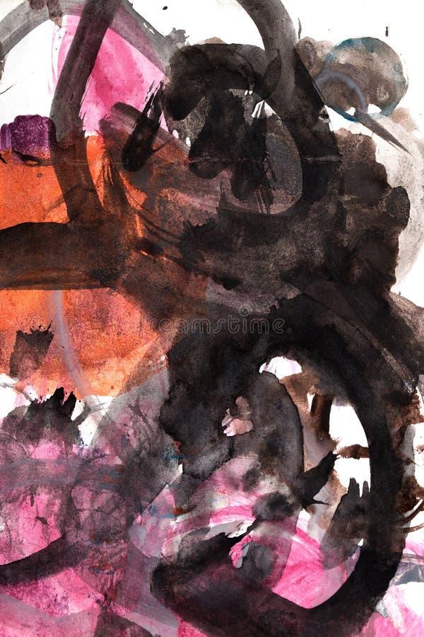 Fundo abstrato da aquarela ilustração royalty free