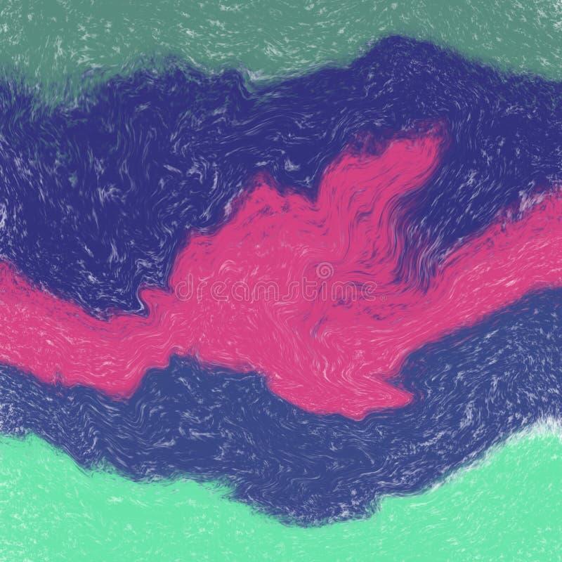 Fundo abstrato da aquarela com verde, o azul e o vermelho ilustração do vetor
