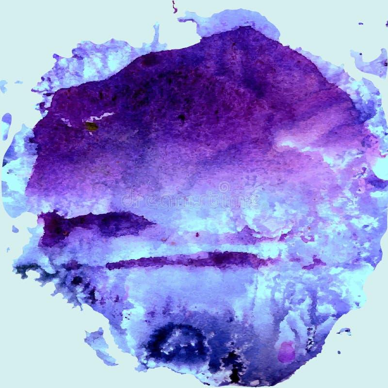 Fundo abstrato da aquarela da pintura da mão, ilustração, cores das aquarelas da mancha no papel molhado ilustração royalty free