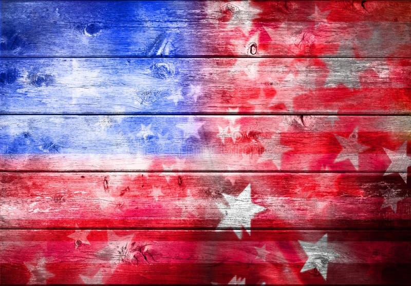Fundo abstrato da bandeira americana