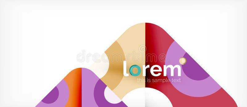 Fundo abstrato da composição colorida geométrica das formas Projeto dinâmico mínimo ilustração stock