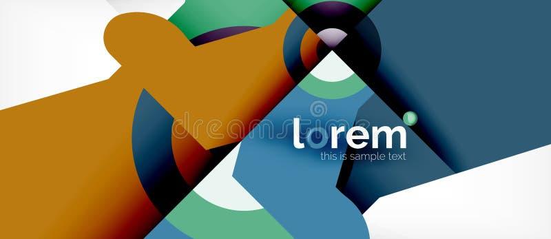 Fundo abstrato da composição colorida geométrica das formas Projeto dinâmico mínimo ilustração royalty free