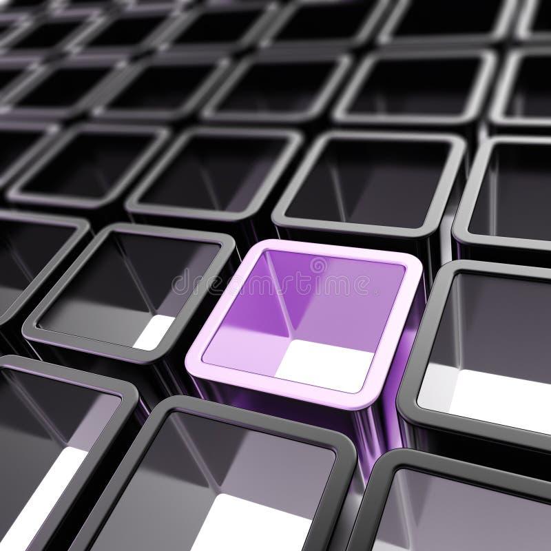 Fundo abstrato da composição de pilha colorida do cubo ilustração do vetor