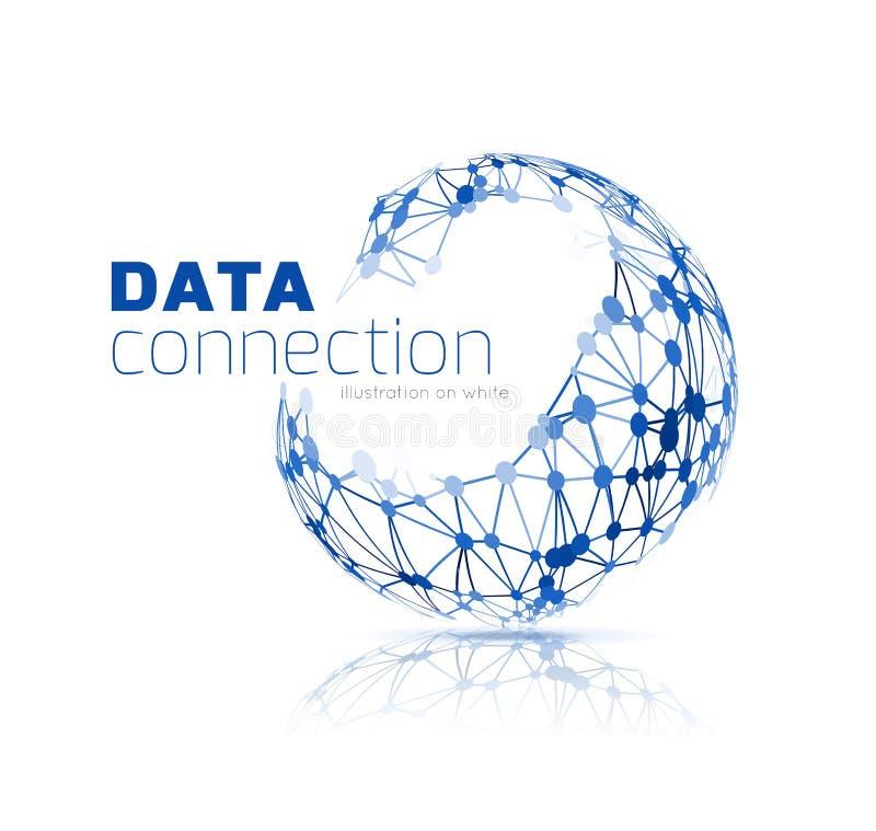 Fundo abstrato da conexão de rede ilustração stock
