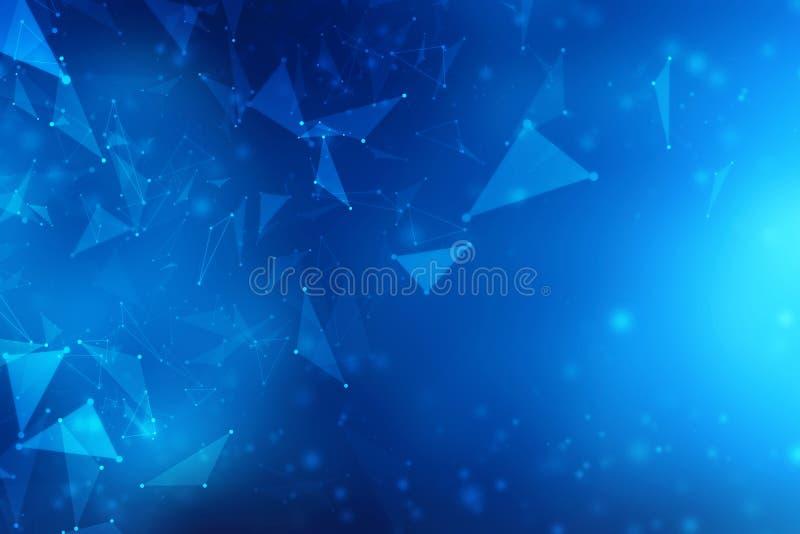 Fundo abstrato da conexão de rede global, tecnologia de rede abstrata da conexão a Internet ilustração do vetor