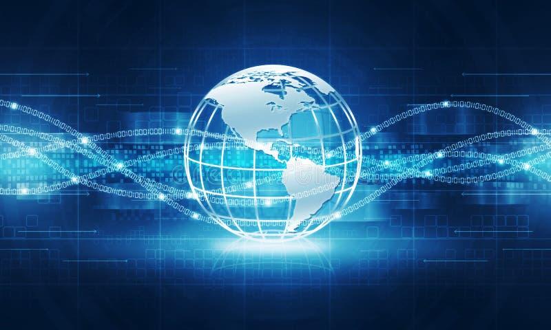 Fundo abstrato da conexão a Internet da tecnologia do globo imagem de stock royalty free