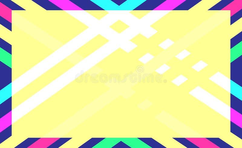 Fundo abstrato da cor geométrica ilustração do vetor