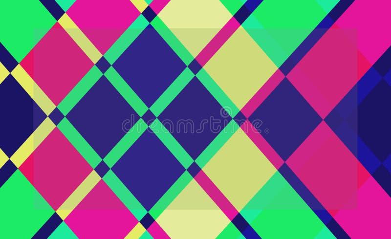 Fundo abstrato da cor geométrica ilustração royalty free