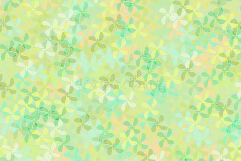 Fundo abstrato da cruz e da mistura verdes da forma da flor do tom junto foto de stock