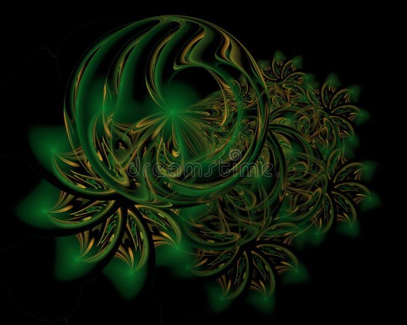 Fundo abstrato da decoração do Natal na cor verde macia ilustração stock