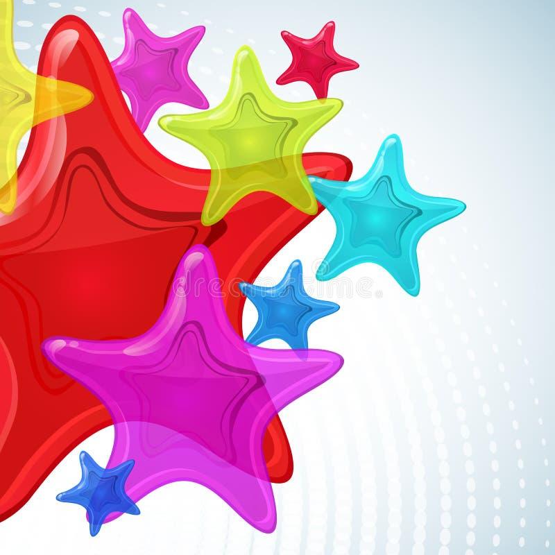 Fundo abstrato da estrela. ilustração stock