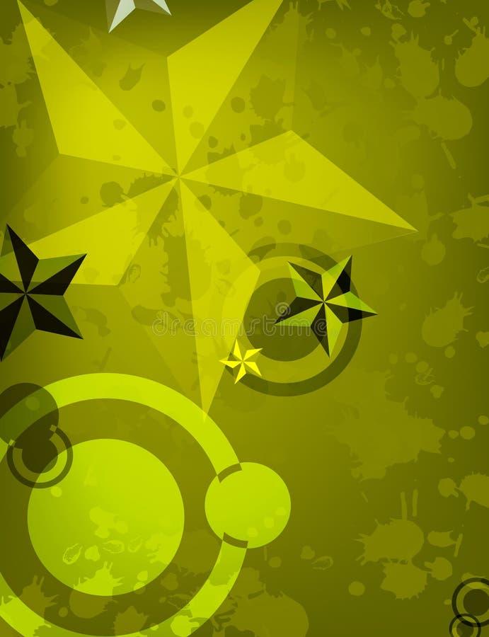 Fundo abstrato da estrela ilustração do vetor
