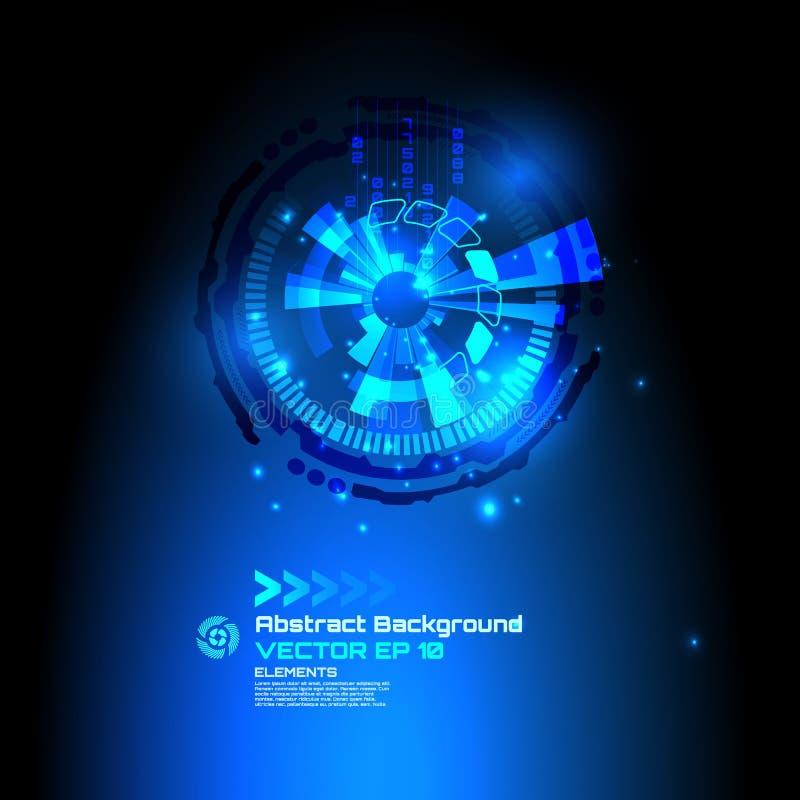 Fundo abstrato da ficção científica para a elevação futurista - projeto da tecnologia - vetor ilustração stock
