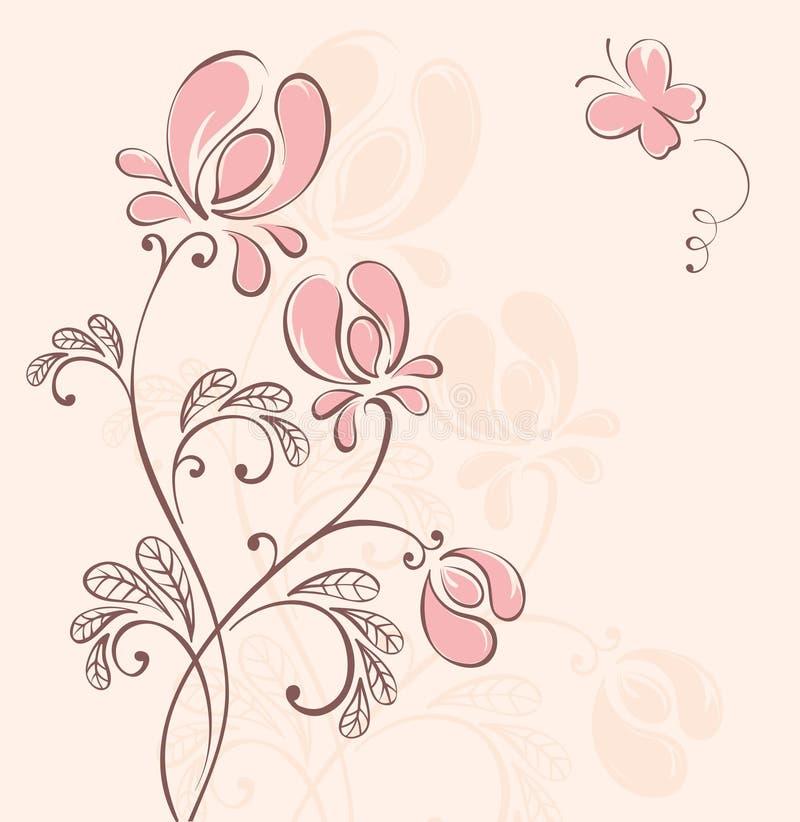 Fundo abstrato da flor ilustração royalty free