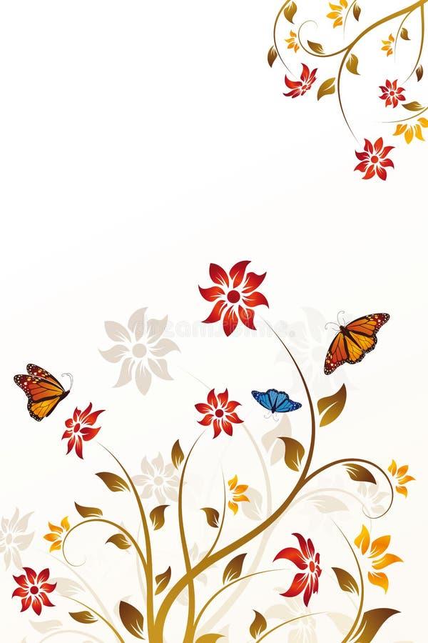 Fundo abstrato da flor do vetor ilustração royalty free