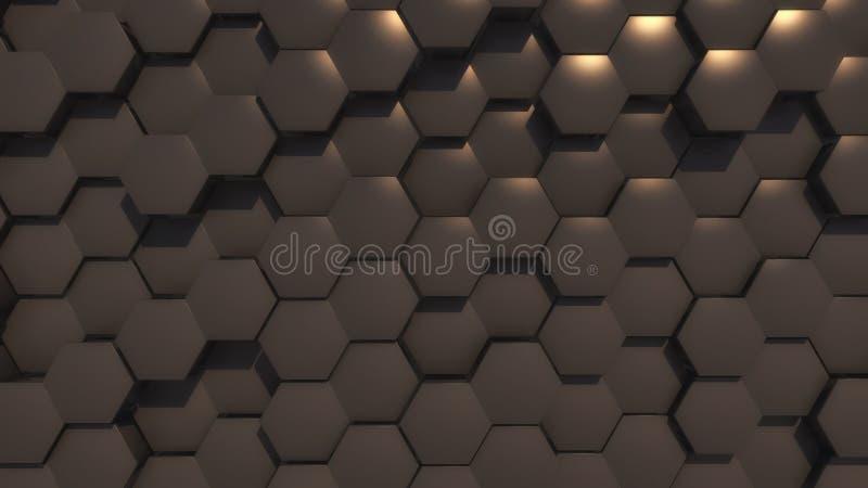 Fundo abstrato da geometria do hexágono imagens de stock