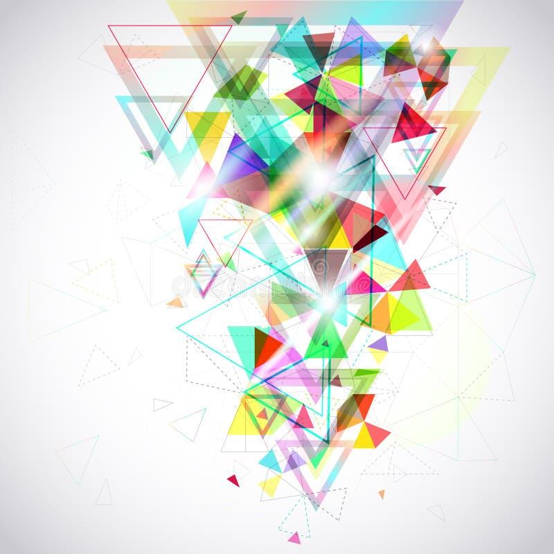 Fundo abstrato da geometria geométrica p do hexágono e do triângulo ilustração do vetor