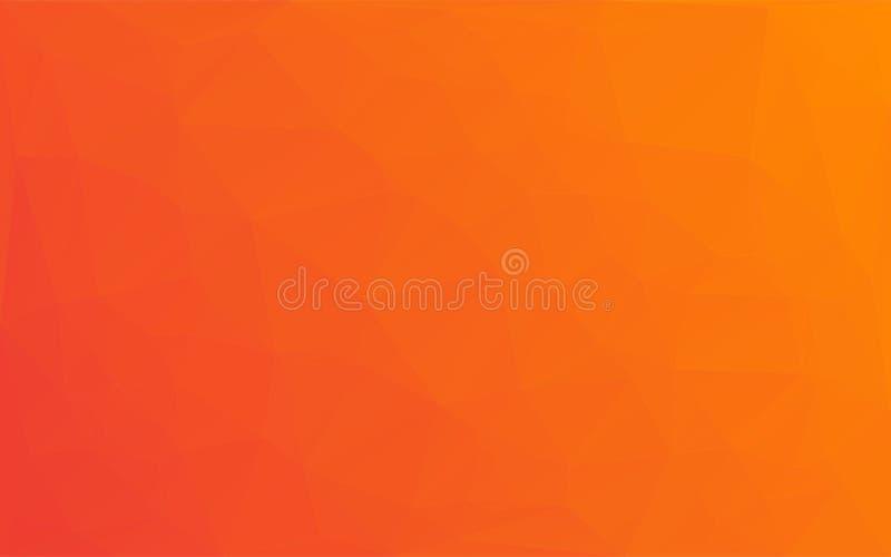 Fundo abstrato da laranja do amarelo do vetor do mosaico do polígono ilustração do vetor