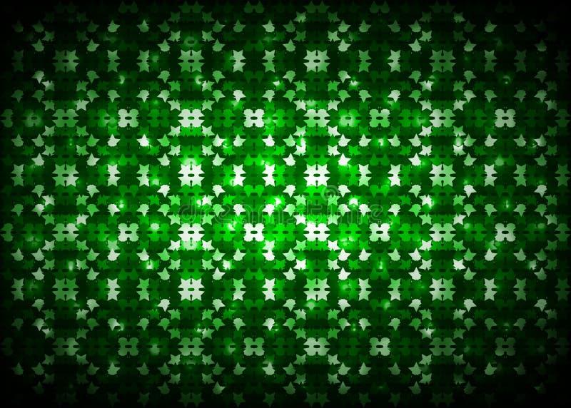 Fundo abstrato da luz verde ilustração stock