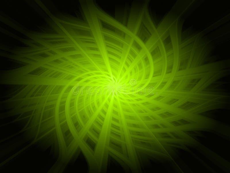 Fundo abstrato da luz verde ilustração royalty free